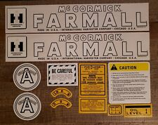 IH Farmall Model A Cultivision Complete Decal Set