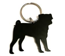 Pug Dog Keyring Keychain Bag Charm Zipper Charm Gift In Black