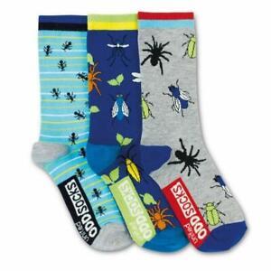 United Oddsocks Spiders Bugs Creepy Crawlies Design Set of 3 Boys Socks 12-6