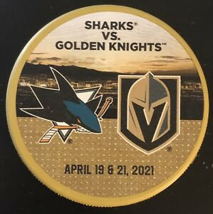 Sharks Vs Golden Knights Match-Up Puck 4/19&20/21 (Marleau Record Breaking Game)