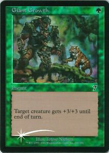 FOIL MTG Giant Growth 7th Edition 7ED English NM