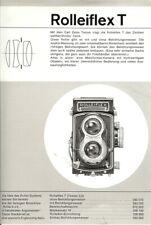 Broschüre Rolleiflex T Technische Daten
