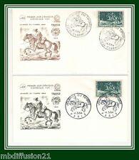 1964 - FRANCE- (2) FDC 1°JOUR - JOURNEE DU TIMBRE - TIMBRE Yt.1406