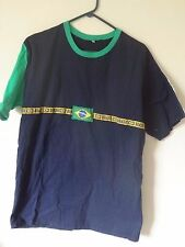 Brasil Soccer Shirt Brazil Embroidered Patches No Tags Size Large