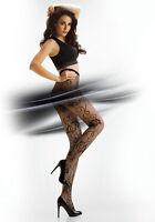 "Sexy Women Fishnet Net Rose Pattern Jacquard Pantyhose Tights ""CHANTAL"""