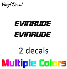 (2x) Evinrude Logo Decal | Pair Boat Outboard Engine Stickers *Multiple options*