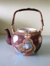 Japon Japan Satsuma teapot without cover. Height of 22,5 cm. Signature