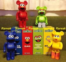 Medicom Be@rbrick Sesame Street 400% Elmo Cookie Oscar & Big Bird Bearbrick 4pcs