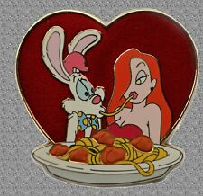 Dsf Pin Sharing Spaghetti - Roger and Jessica Rabbit - Disney Pin Le 300