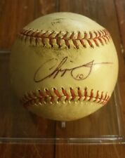 Chipper Jones Braves HOF Signed Auto ONLB Game Used Baseball Signed In Person