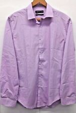 Cedarwood State Men's Dress Shirt Slim Fit Button Down Lavender Long Sleeve Sz15