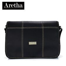Aretha Genuine cowhide leather Women Large Shoulder Tote hobo bag Black handbags