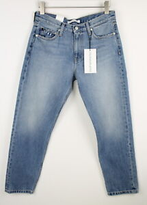 Calvin Klein Jeans Mid Rise Boy Auckland Donna W28/L32 Strappato Jeans 38740-GS