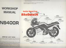 Genuine Honda NS400R (1985->) Factory Shop Repair Manual NS 400 R NC19 NSR AM92