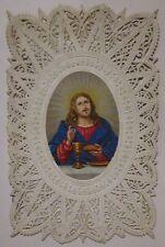 1870ca GESU EUCARISTIA santino holy card Jesus Eucharist Eucharistie canivet mec