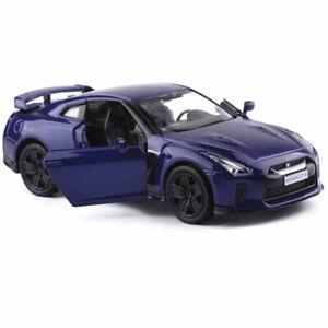1:36 Nissan GTR R35 Die Cast Modellauto Spielzeug Model Sammlung Pull Back Blau