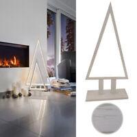 Tischleuchte LED Boden Lampe Tannenbaum Silhouette Pine Sompex Holz weiß 38cm