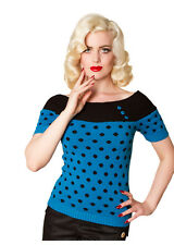 ROCKABILLY 50s TOP, Polka Dots, Pinup, 1950s, Vintage,Burlesque, Stunning! XS