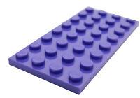 Lego 2 Stück dunkellila (dark purple) Platten 4x8 (3035) Platte Basics City Neu