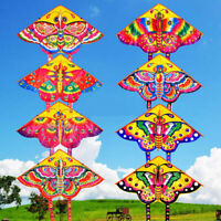 HD_ Outdoor Colorful Butterfly Flying Kite with Winder String Children Kids Toy
