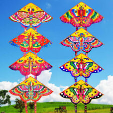 UK_ Outdoor Colorful Butterfly Flying Kite with Winder String Children Kids Toy