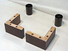 4x Couchfüße Sofafüße Holzbeine Möbelfüße Tischbeine Eck-Holz-Füße L. 7 cm.