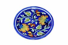 Blue Pottery Decorative Wall Plate For Drawing Room/Living Room/Dining Room 6 In
