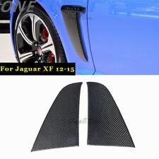 Carbon Fiber Side Fender Cove for 12-15 Jaguar XF XFR-S Air Vents Trim Stick Cap