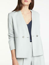 New John Lewis Modern Rarity Soft Tailored Jacket, Sky Blue, X Small, RRP £180