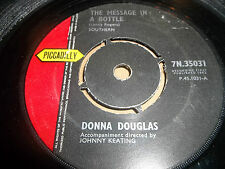 """DONNA DOUGLAS """" THE MESSAGE IN A BOTTLE """" 7"""" SINGLE 1962 VG-"""