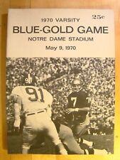 Notre Dame Blue Gold Varsity May 9 1970  Football Game Program Magazine