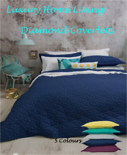 Queen, King Bed Coverlet Set: Bambury Regent Diamond Spread pillowcase Quilted