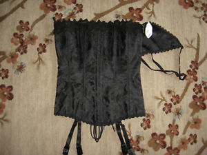 FREDERICK'S OF HOLLYWOOD WOMEN'S BLACK SEXY CORSET AND PANTY SIZE 34