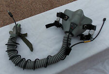 Desert Storm USN USMC USAF Pilot MBU-12/P Gray Oxygen Mask & J Bayonet Fittings