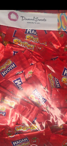 Bag of 50 HARIBO MAOAM STRIPES STRAWBERRY FLAVOUR FRUIT CHEWS SWEETS KIDS PARTY