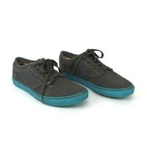 Vans Authentic Gray Blue Rubber Shoes Men's Size 12 Skate Shoe Casual Lace Up