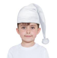 Kids Night Cap Hat Boys Girls Victorian Scrooge Wee Willie Winkey Fancy Dress