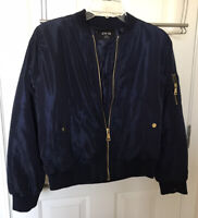 Active USA Blue Bomber Jacket Size Medium JUNIOR???