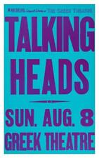 Talking Heads  - POSTER  -Live @ Greek Theater  - Harrison Weymouth Byrne Frantz