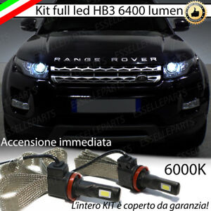 KIT FULL LED LAND ROVER RANGE ROVER EVOQUE LAMPADE LED HB3 6000K NO AVARIA LUCI
