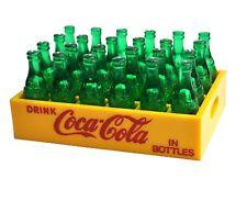 Vintage Coca-Cola Coke MINI CASSETTA BOTTIGLIE VERDE USA CASE CASSA