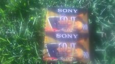 2 Pack Sony CD-It High Bias Audio Cassettes 90 Minutes Slide Case Sealed New