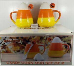 MR HALLOWEEN Candy Corn Mug Set of 2 NEW Rae Dunn Johanna Parker Blue Sky Match