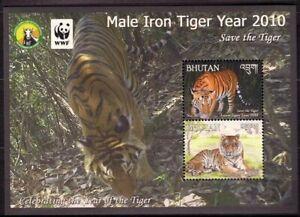 Bhutan 2010 MNH MS, Male Iron Tiger, WWF, Wild Animals