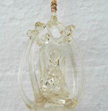 Silvestri  Clear Glass Angel Christmas Tree Ornament