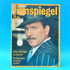 DDR Filmspiegel 14/1988 Götz George Marcello Mastroianni Pierre Richard Sander C