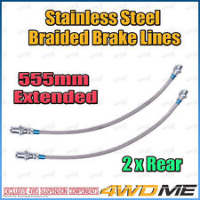 2x TOYOTA HILUX KUN26 N70 4WD EXTENDED REAR Stainless Steel Braided Brake Lines