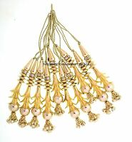Indian Latkans Decorative Dress Accessories Beaded Tassels Craft Sewing 1 Pair