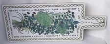More details for vintage retro 1970s melamine large rectangular taunton vale herbs chopping board