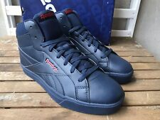 Reebok Royal Complete 3 Mid Convay 10 UK EU 44.5 Navy Leather Men Casual Trainer
